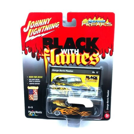 George Barris Phaeton Black With Flames A 1/64Johnny Lightning