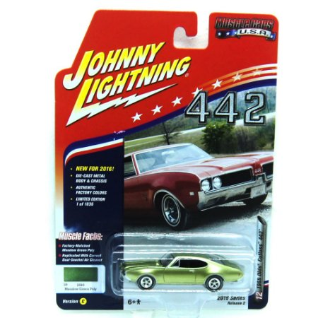 Olds Cutlass 4-4-2 1969 Muscle Cars USA C 1/64 Johnny Lightning