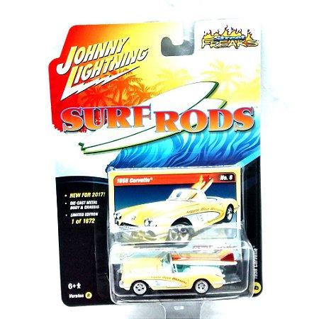 Corvette 1958 Surf Roads B 1/64 Johnny Lightning
