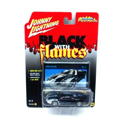 Ford GT 2005 Black With Flames B 1/64 Johnny Lightning