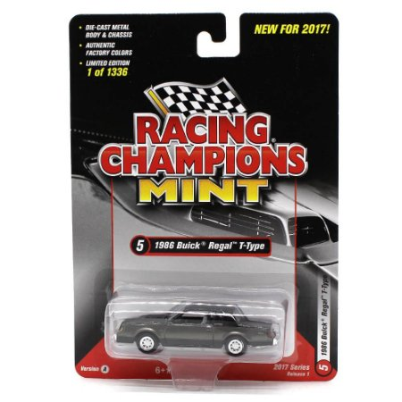 Buick Regal T-Type 1986 1/64 Racing Champions Mint 2017 Series Release 1 Versão A