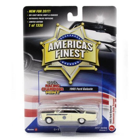 Ford Galaxie 1965 Tenessee State Trooper 1/64 Racing Champions Mint America´s Finest 2017 Series Release 1 Versão A