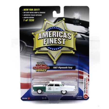 Plymouth Fury 1967 New York City Police 1/64 Racing Champions Mint America´s Finest 2017 Series Release 1 Versão A