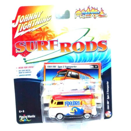 VW Type 2 Transporter Surf Roads C 1/64 Johnny Lightning
