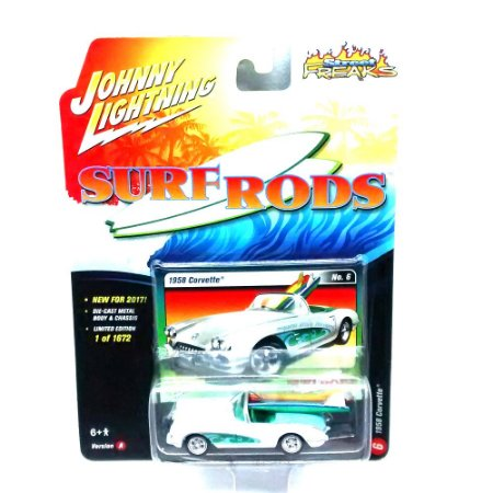 Corvette 1958 Surf Roads A 1/64 Johnny Lightning