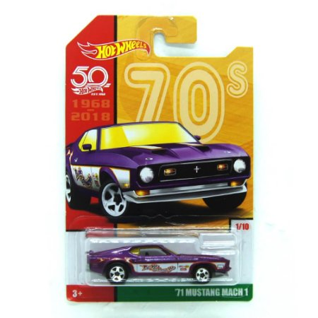 Ford Mustang Mach 1 1971 1/64 Hot Wheels 50 Anos