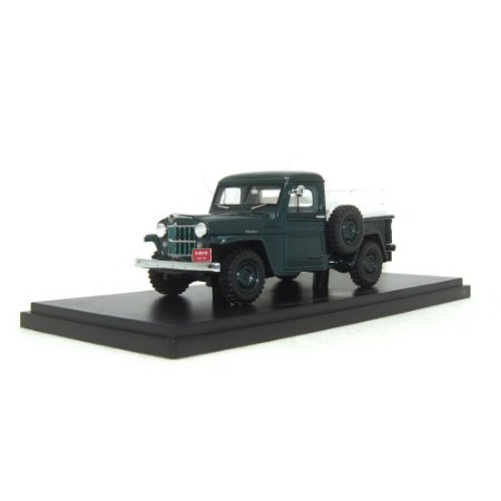 Jeep Pick Up, green with wooden frame 1/43 Neo Scale Models