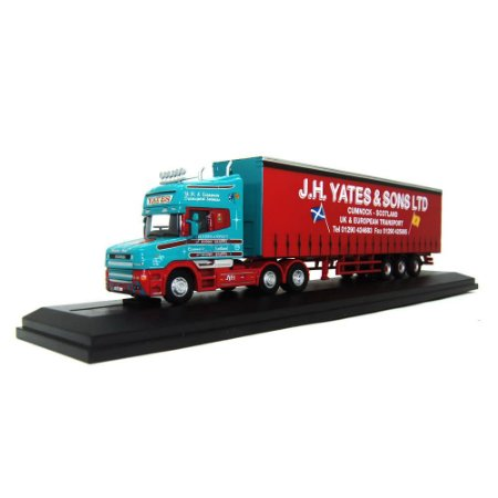 Caminhão SCANIA T CAB TOPLINE CURTAINSIDE J H YATES AND SONS LTD 1/76 Oxford