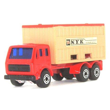 Mercedes Container Truck Nº42 1/64 Matchbox Anos 70 Vermelha