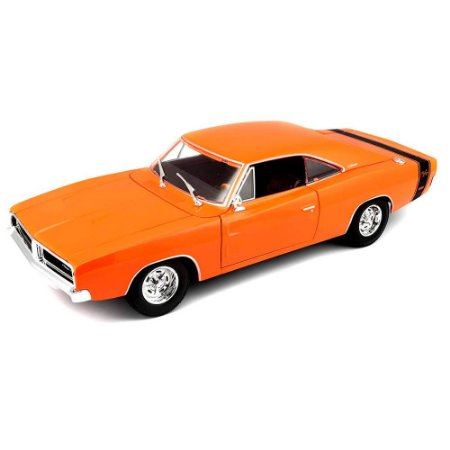Dodge Charger R/T 1969 Laranja Special Edition 1/18 Maisto