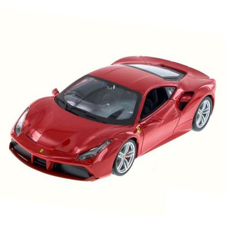 Ferrari 488 GTB Coupe 2015 Vermelha 1/24 Bburago Race & Play