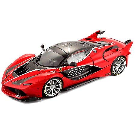Ferrari FXX-K Nº88 2015 Vermelha 1/18 BBurago Race & Play