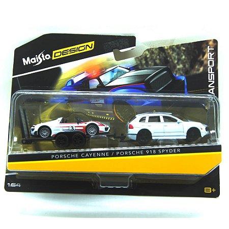 Porsche Cayenne Porsche 918 Spyder 1/64 Maisto Design Elite Transport