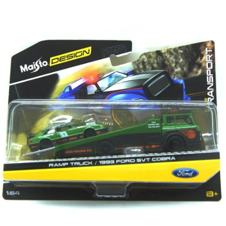 Ramp Truck Ford SVT Cobra 1993 1/64 Maisto Design Elite Transport