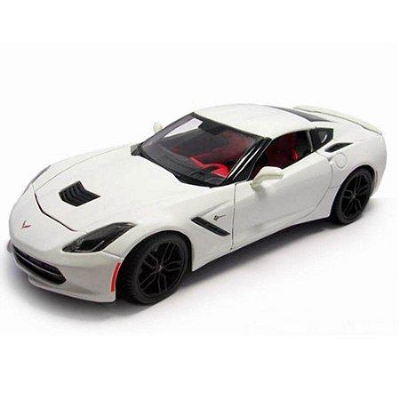 Chevrolet Corvette Z51 Coupe Stingray 2014 Branco 1/18 Maisto Especial Edition