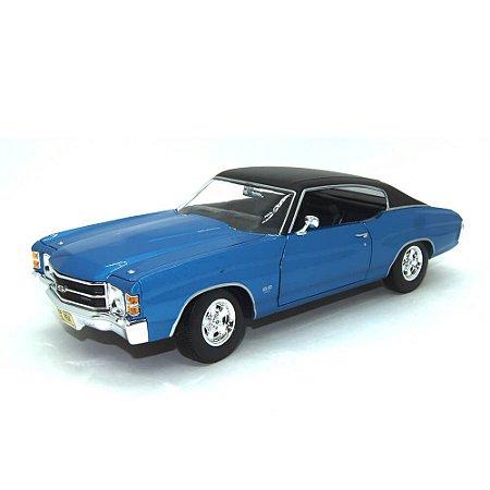 Chevrolet Chevelle SS 454 1971 Azul 1/18 Maisto Especial Edition