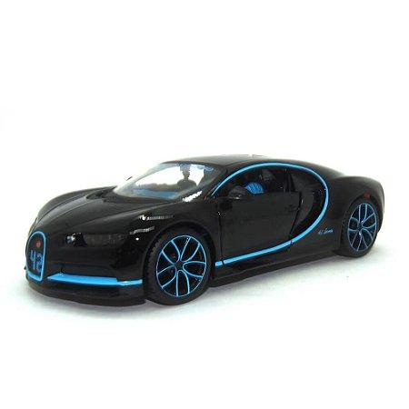 Bugatti Chiron Preta 1/24 Maisto Especial Edition
