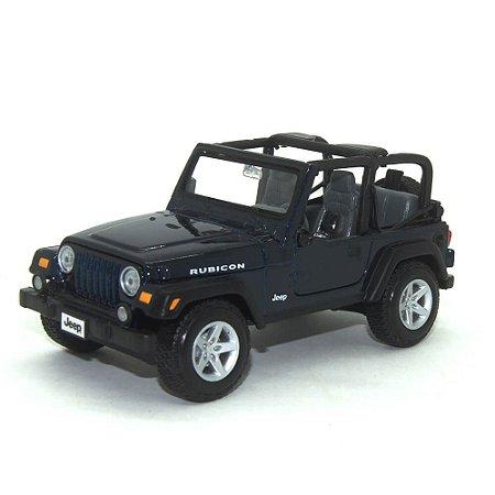 Jeep Wrangler Rubicon Open 2012 Azul 1/24 Maisto Special Edition