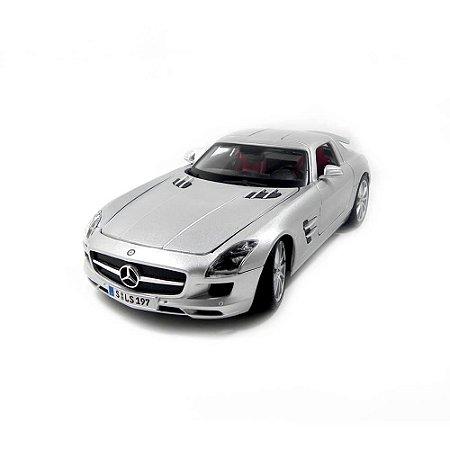 Mercedes-Benz SLS AMG Prata 1/18 Maisto Premiere Edition