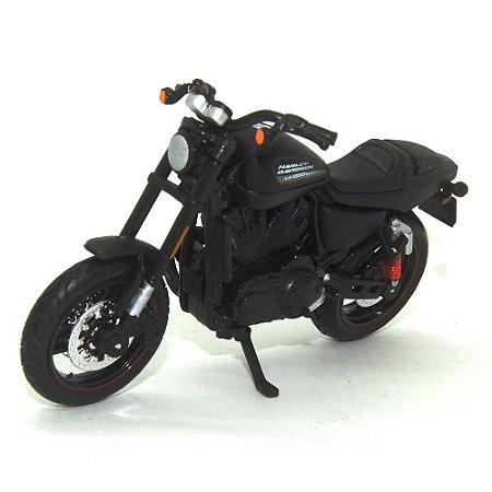 Moto Harley Davidson XR 1200X 2011 Preta 1/18 Maisto HD Custom Series 35