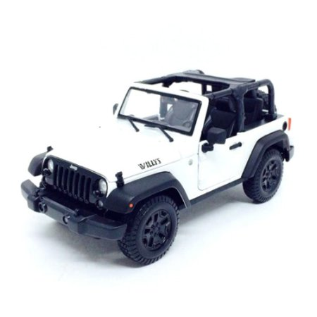 Jeep Willys Wrangler 2014 Branco 1/18 Maisto Special Edition