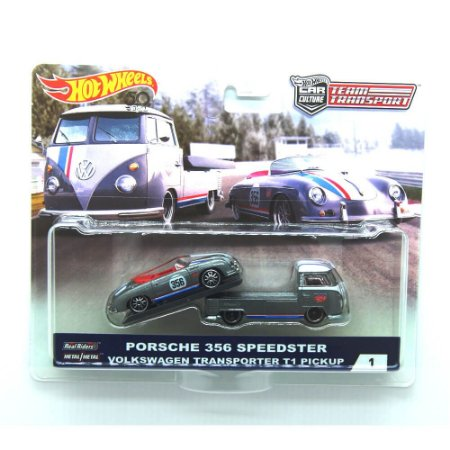 Porsche 356 Speedster Volkswagen Kombi Transporter T1 Pickup 1/64 Hot Wheels Car Culture Team Transport