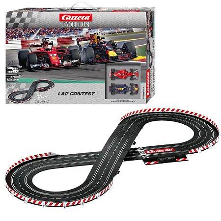 Pista Elétrica Slot Car Carrera Lap Contest F1 4,5 metros