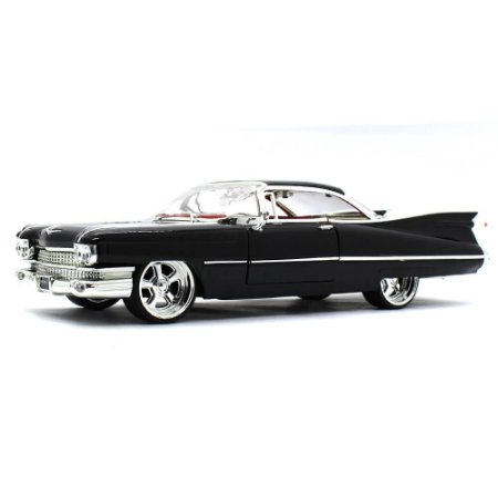 Cadillac Coupe Deville Hard Top Custom 1959 Preto 1/24 Jada Toys Big Time Customs