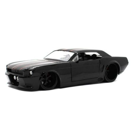 Ford Mustang USA Coupe Custom 1965 Preto 1/24 Jada Toys Big Time Muscle