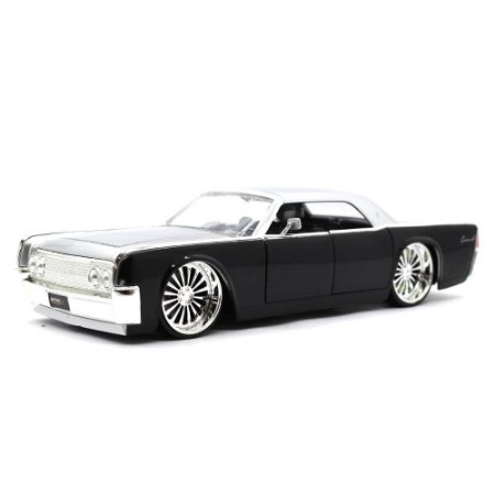 Lincoln Continental 1963 Preto 1/24 Jada Toys Big Time Kustoms