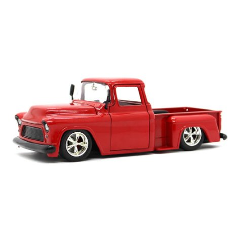 Chevrolet Stepside Pick Up Custom 1955 Vermelho 1/24 Jada Toys Big Time Kustoms
