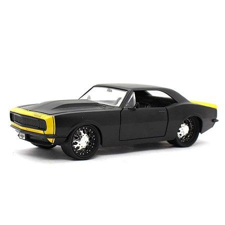 Chevrolet Camaro Z28 Coupe Custom 1967 Preto Fosco 1/24 Jada Toys Big Time Muscle