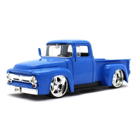 Ford F-100 USA Pick Up Custom 1956 Azul 1/24 Jada Toys Just Trucks