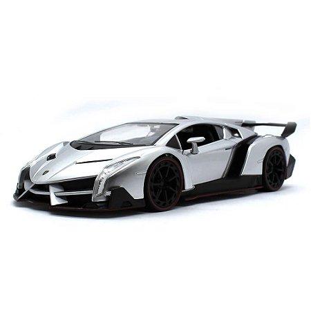 Lamborghini Veneno 2017 Prata 1/24 Jada Toys Hyper Spec