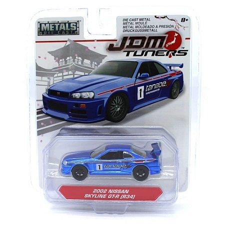 Nissan Skyline GT-R R34 2002 1/64 Jada Toys JDM Tuners  Wave 2