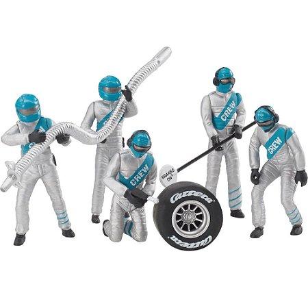 Conjunto com figuras de Mecânicos Carrera Crew Prata 1/32 Carrera