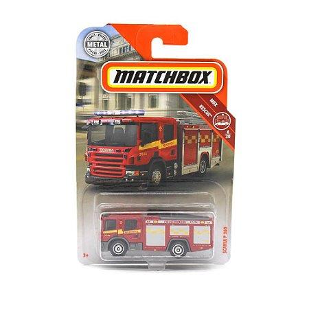 Bombeiros Scania P 360 1/64 Matchbox MBX Rescue