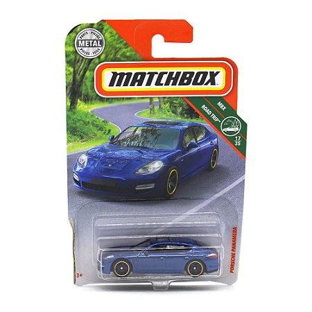 Porsche Panamera Azul 1/64 Matchbox MBX Road Trip