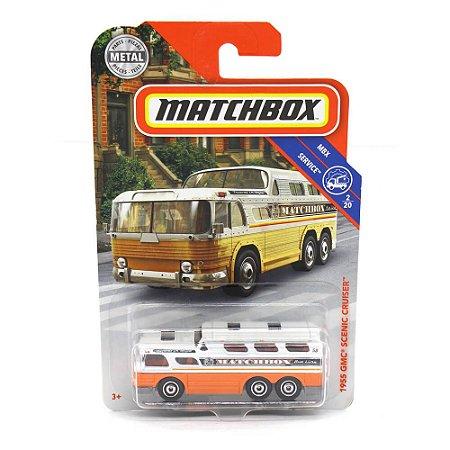Ônibus GMC Scenic Cruiser 1955 1/64 Matchbox MBX Service