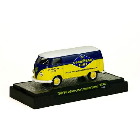 Volkswagen Kombi Delivery Van European Model 1960 Goodyear 1/64 M2 Machines Wild Cards 31500 Release WC09
