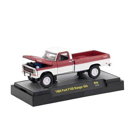 Ford F100 Ranger 4x4 1969 1/64 M2 Machines Auto Trucks 32500 Release 50