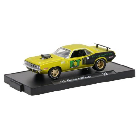 Plymouth HEMI Cuda 1971 ET Mags 1/64 M2 Machines Auto Drivers 11228 Release 45