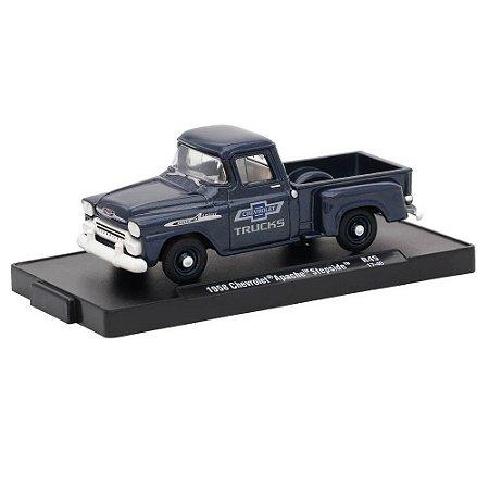 Chevrolet Apache Stepside 1958 Trucks 100 Years 1/64 M2 Machines Auto Drivers 11228 Release 45