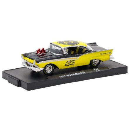 Ford Fairlane 500 1957 Accel 1/64 M2 Machines Auto Drivers 11228 Release 45