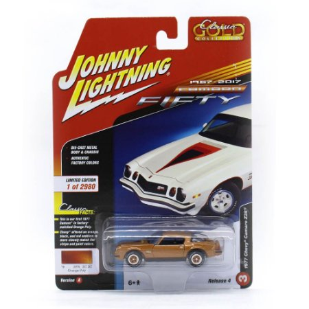 Camaro Z28 1977 1/64 Johnny Lightning Classic Gold 2017 4 A