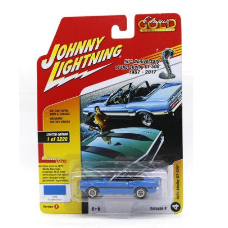 Shelby GT-500 70 1/64 Johnny Lightning Classic Gold 2017 4 A