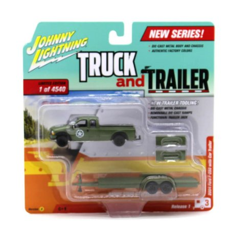 Ford F-250 2004 1/64 Johnny Lightning Truck And Trailer Release 1 Versão A