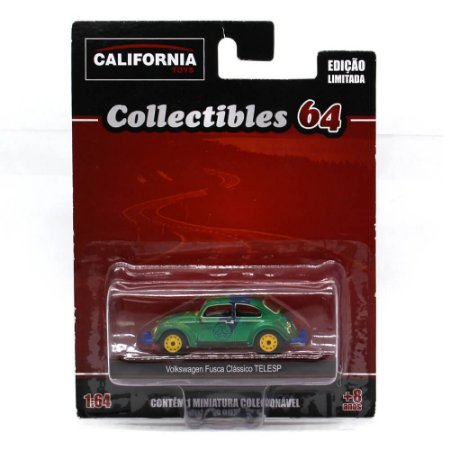 GREEN MACHINE Volkswagen Fusca Telesp 1/64 Greenlight California Collectibles 64