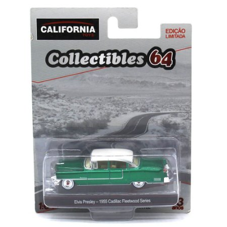 GREEN MACHINE Cadillac Fleetwood Series 1955 Elvis Presley 1/64 Greenlight California Collectibles 64