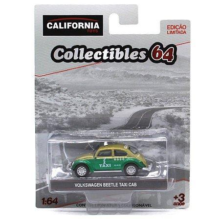 GREEN MACHINE Volkswagen Fusca Táxi 1/64 Greenlight Califórnia Collectibles 64